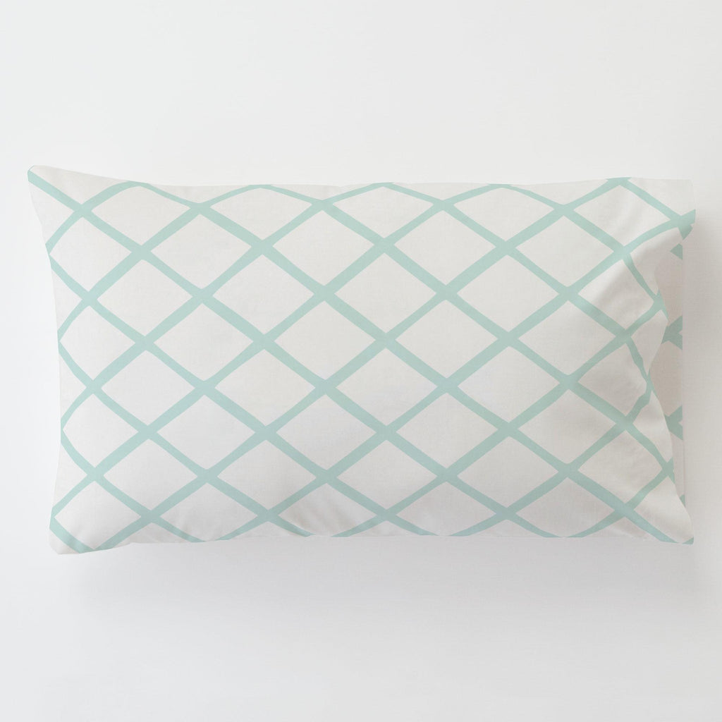 Product image for Icy Mint Trellis Toddler Pillow Case