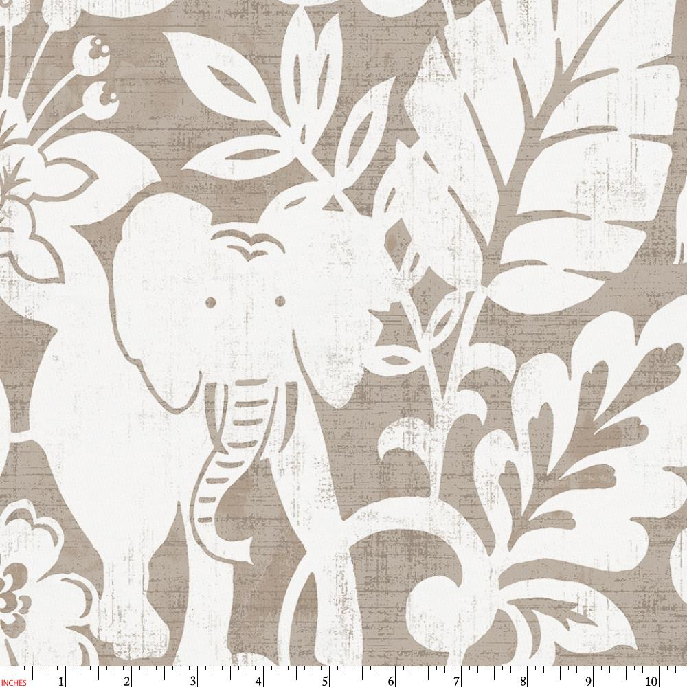 Product image for Taupe and White Jungle Fabric