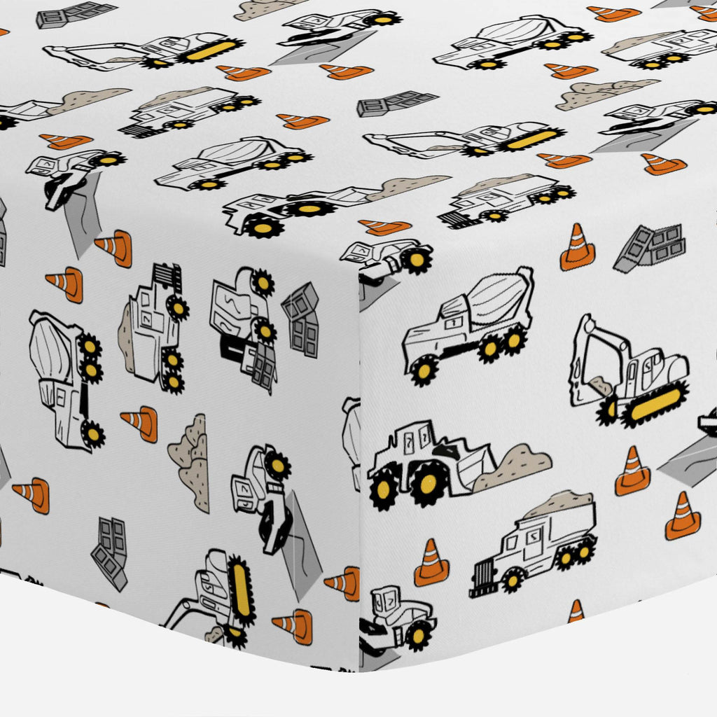 Product image for Construction Trucks Mini Crib Sheet