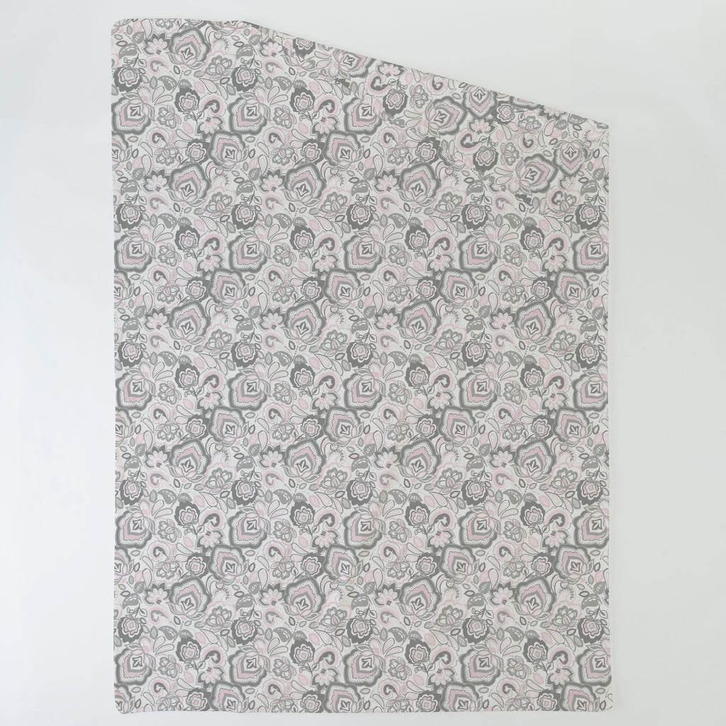 Product image for Pink and Gray Jacobean Duvet Cover