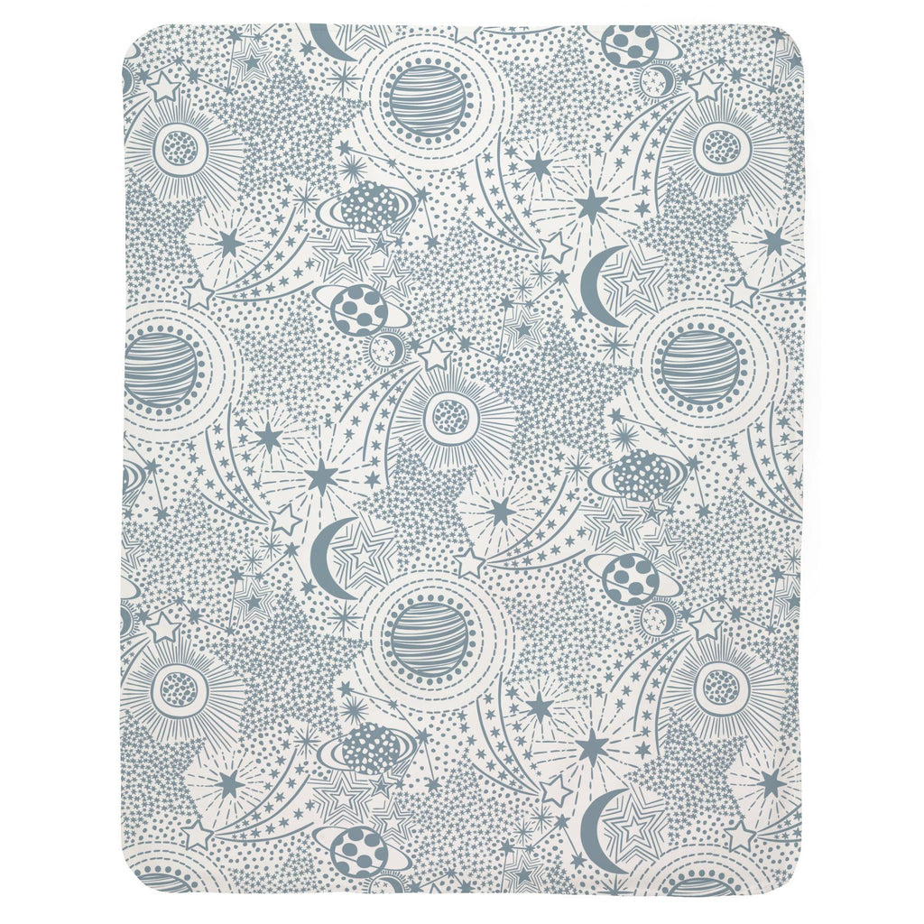 Product image for Steel Blue Galaxy Baby Blanket