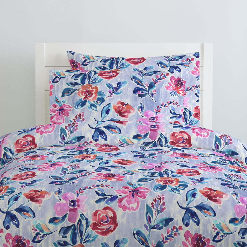 Product image for Pink and Lavender Garden Pillow Case