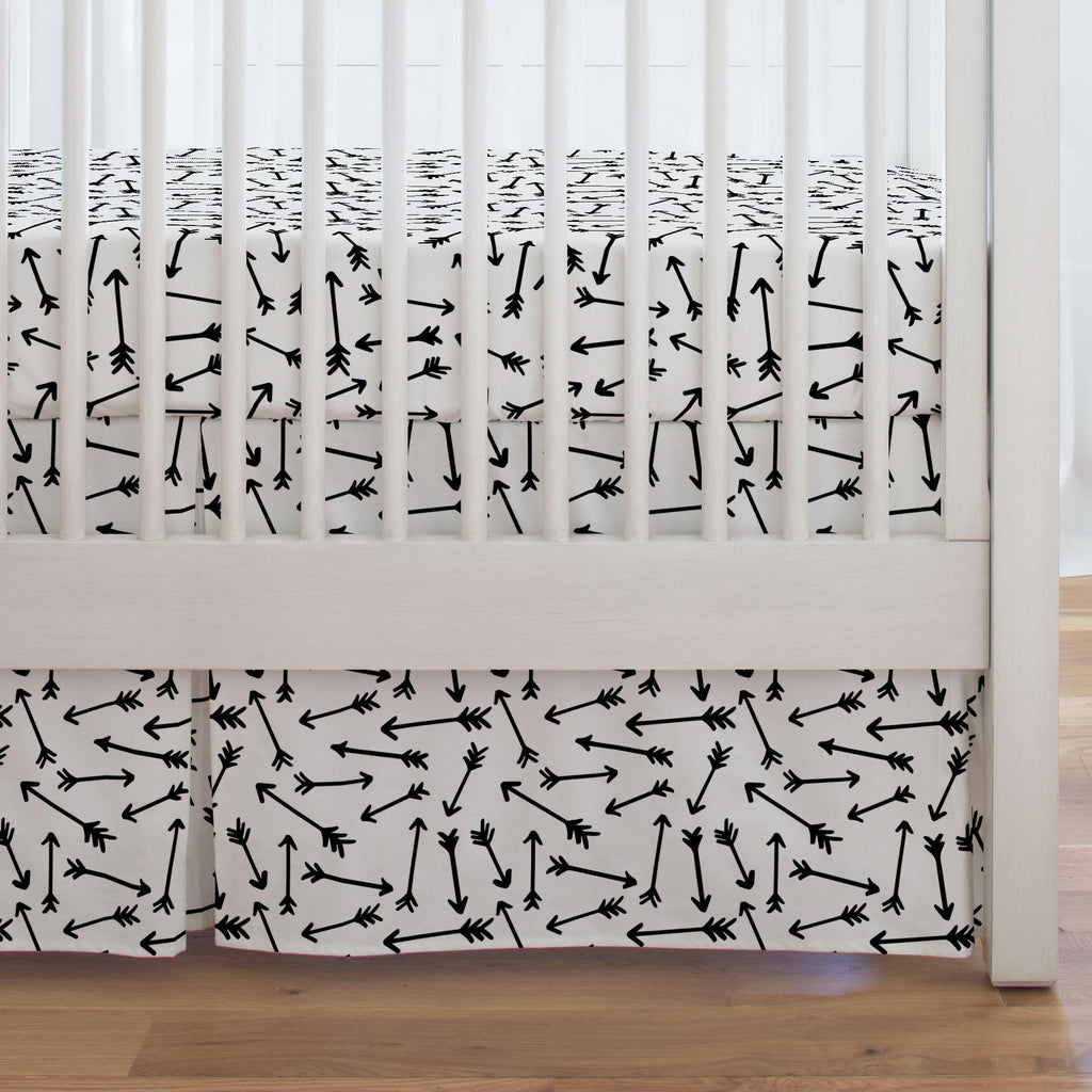 Product image for Onyx Whimsical Arrows Crib Skirt Single-Pleat