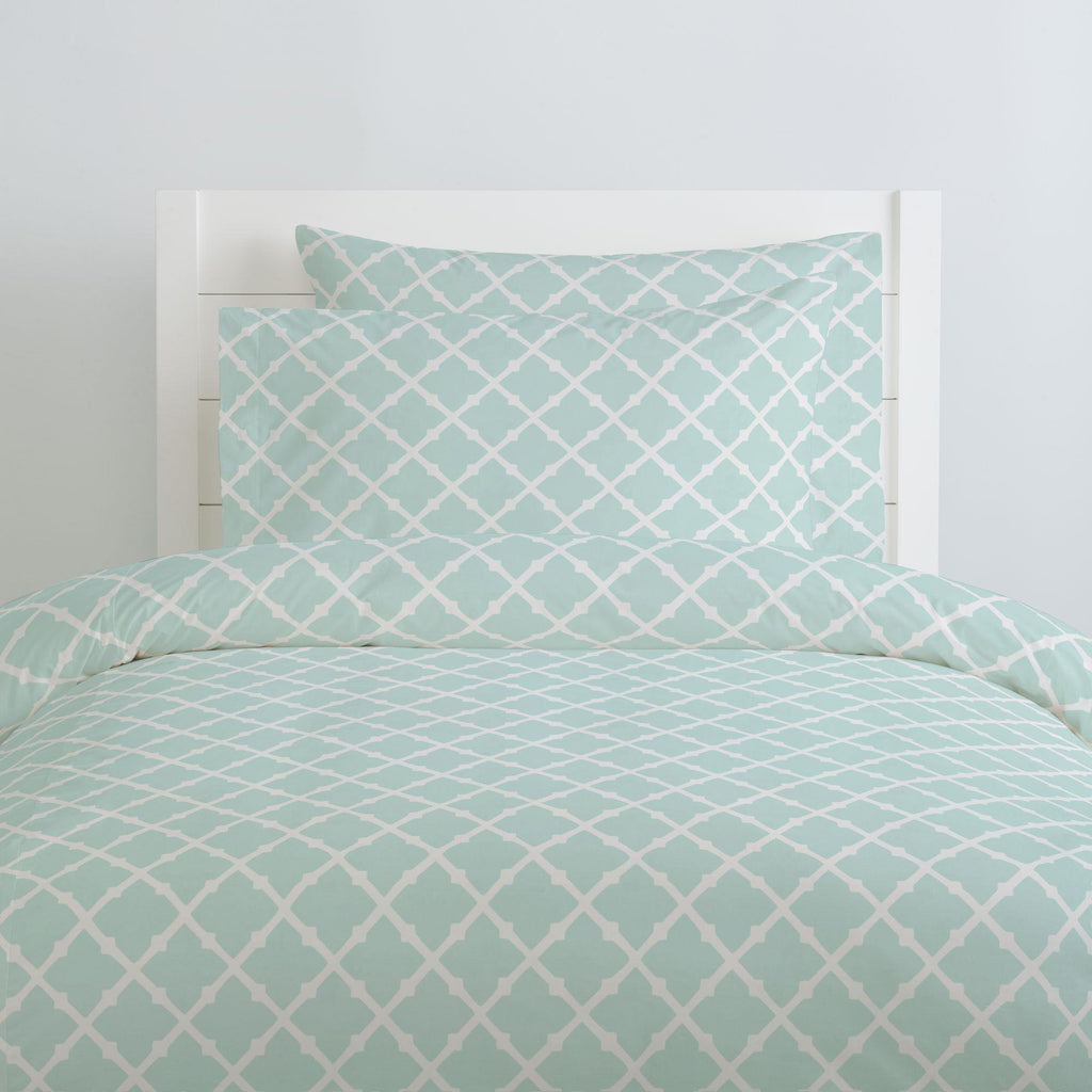 Product image for Icy Mint Lattice Pillow Case