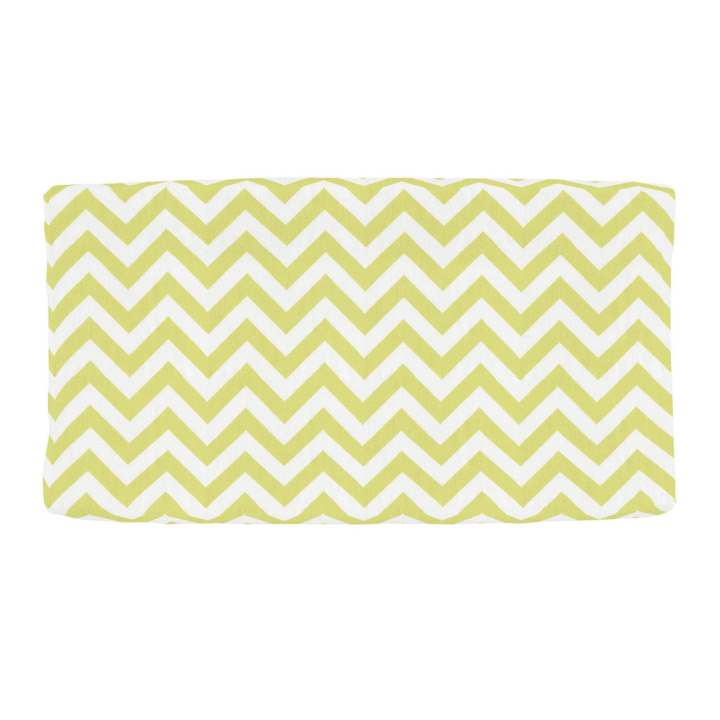 Product image for Light Lime Zig Zag Changing Pad Cover