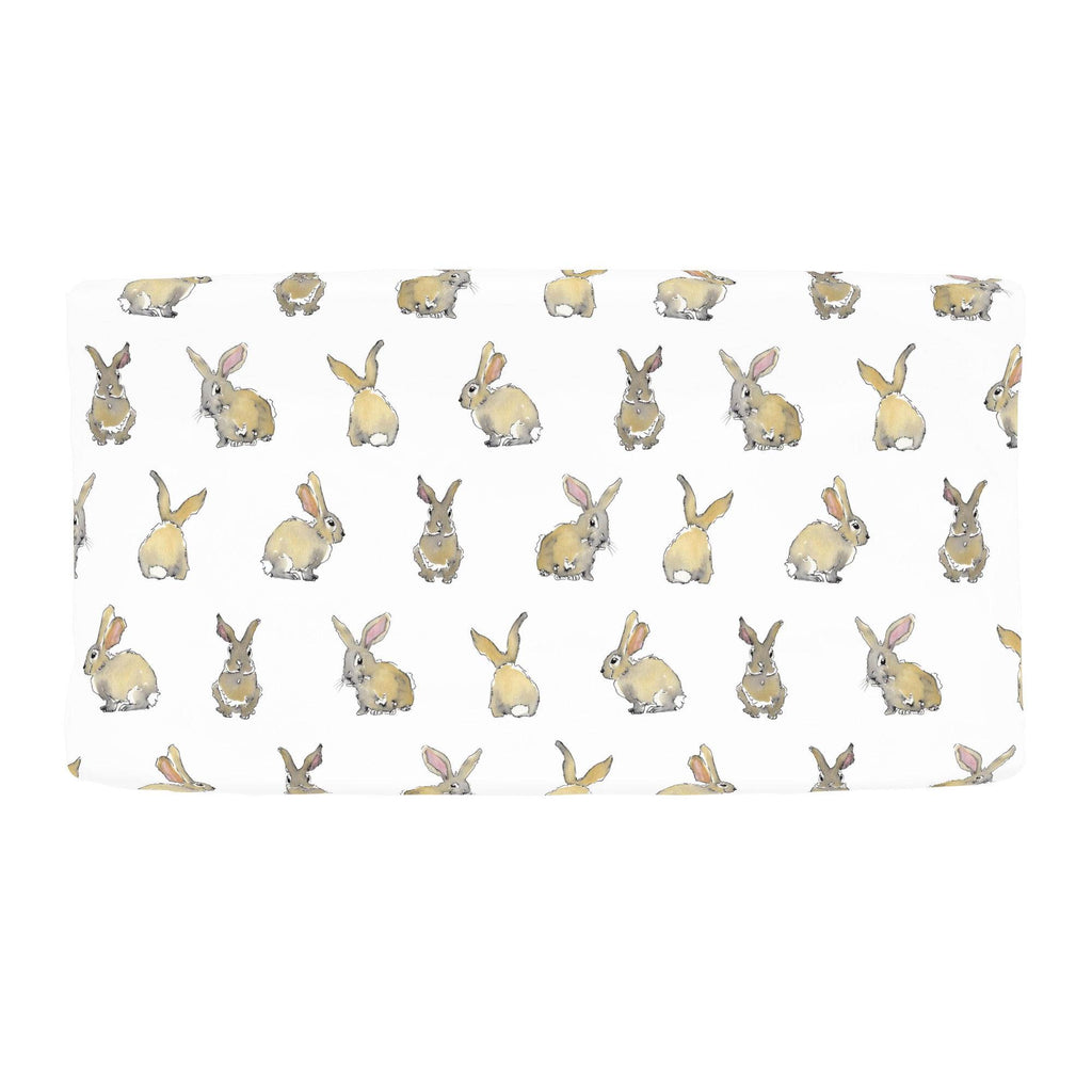 Product image for Watercolor Rabbits Changing Pad Cover