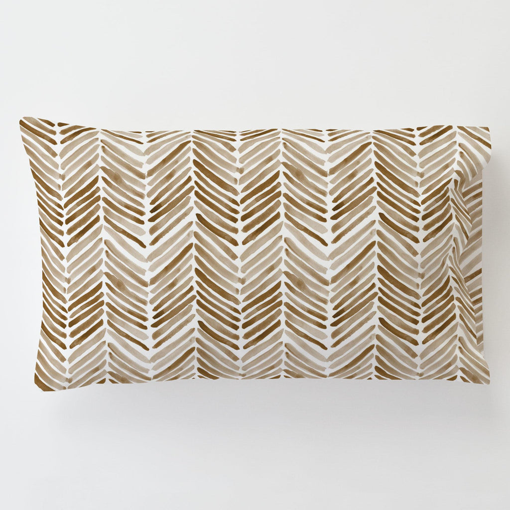 Product image for Caramel Painted Chevron Toddler Pillow Case