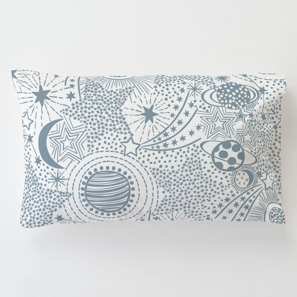 Product image for Steel Blue Galaxy Toddler Pillow Case