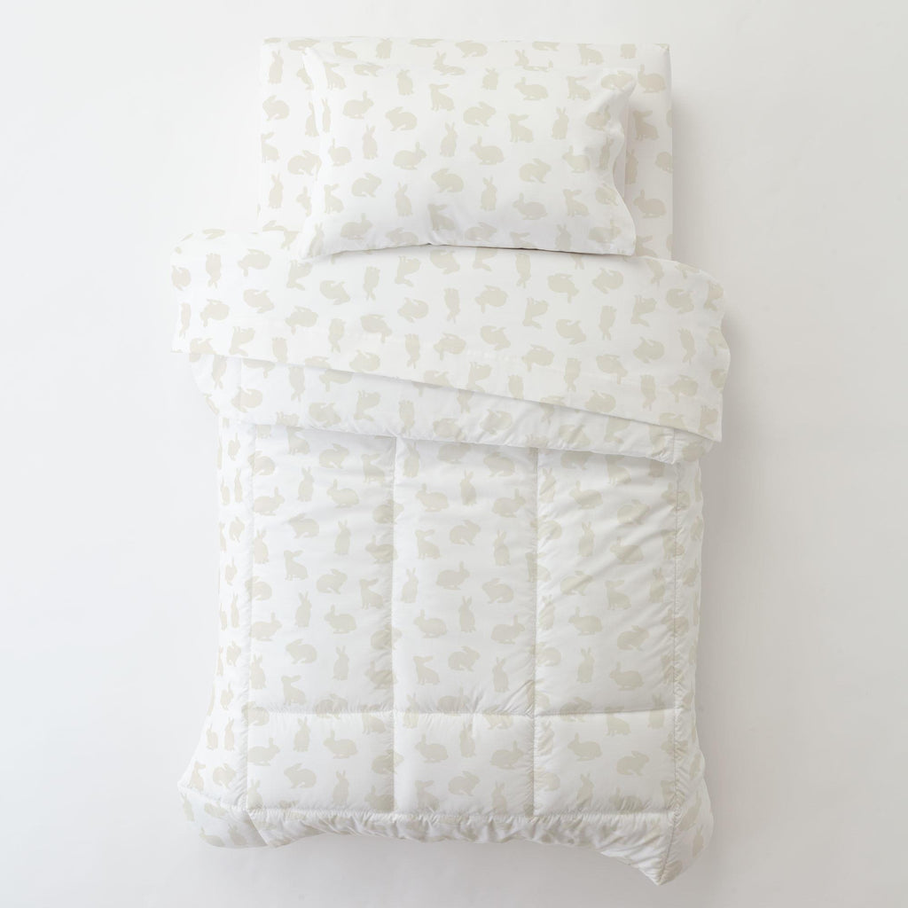 Product image for Ivory Bunnies Toddler Comforter