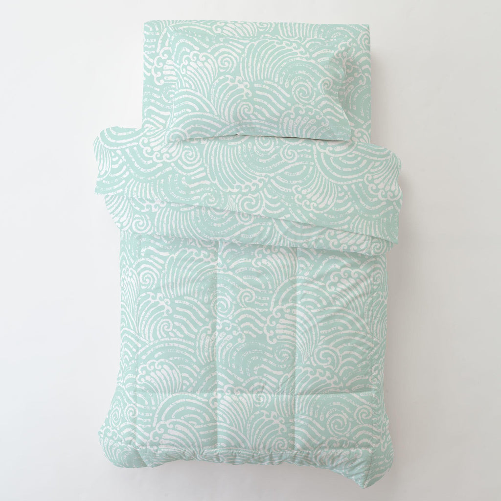 Product image for Icy Mint Seas Toddler Pillow Case with Pillow Insert