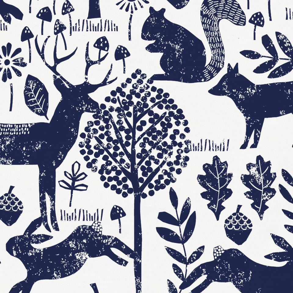 Product image for Navy Woodland Animals Crib Comforter