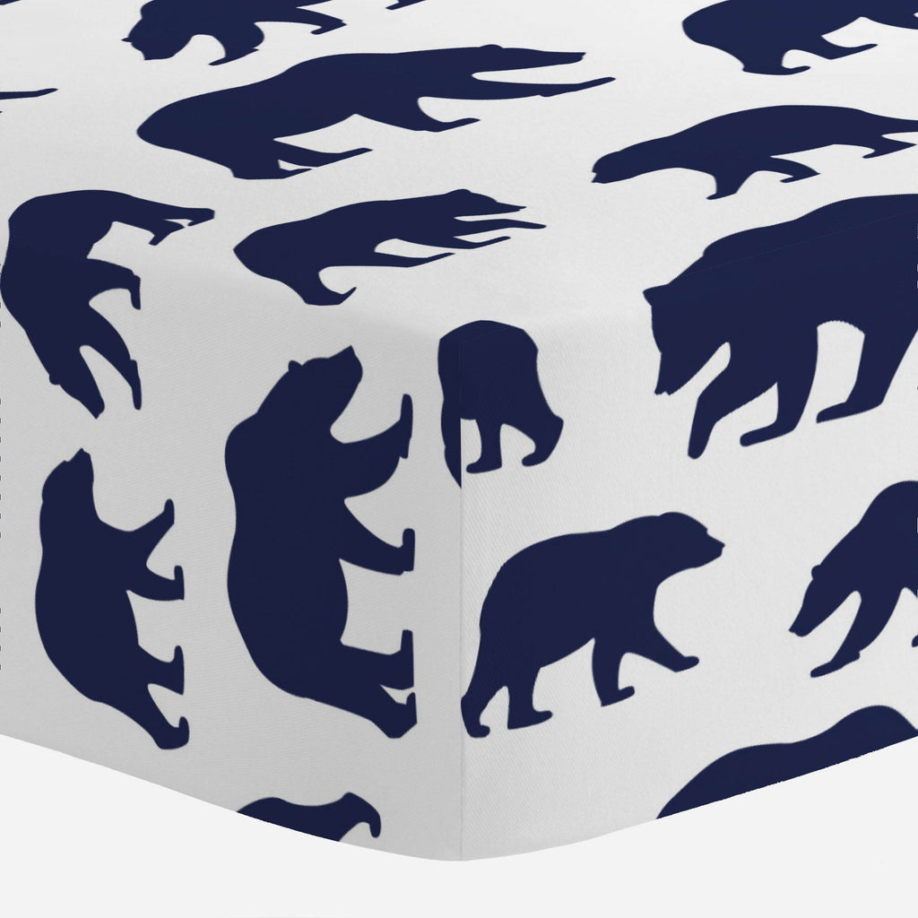 Product image for Navy Bears Mini Crib Sheet