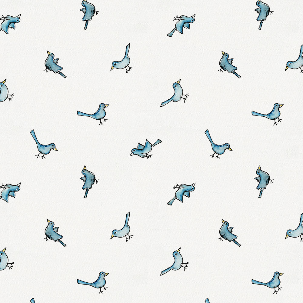 Product image for Blue Birds Drape Panel