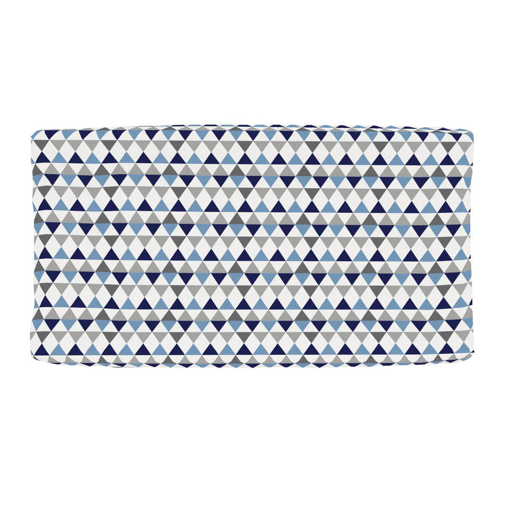Product image for Gray and Blue Triangles Changing Pad Cover