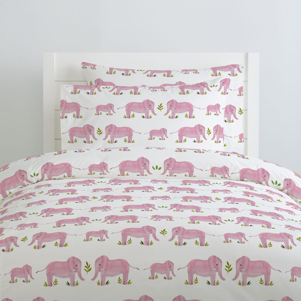 Product image for Pink Painted Elephants Pillow Case