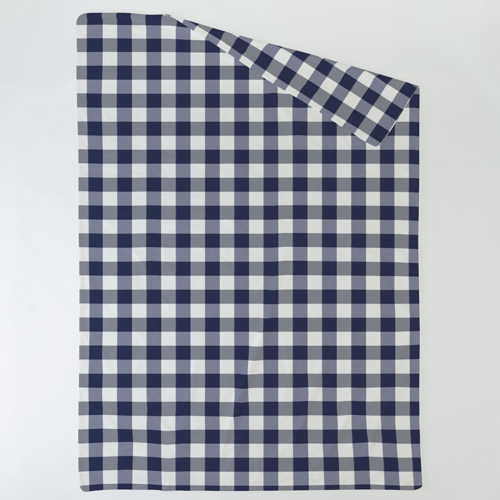 Product image for Navy and White Buffalo Check Duvet Cover