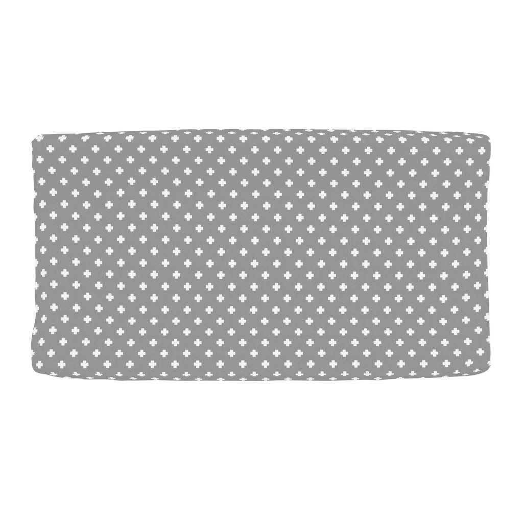 Product image for Gray Mini Swiss Cross Changing Pad Cover
