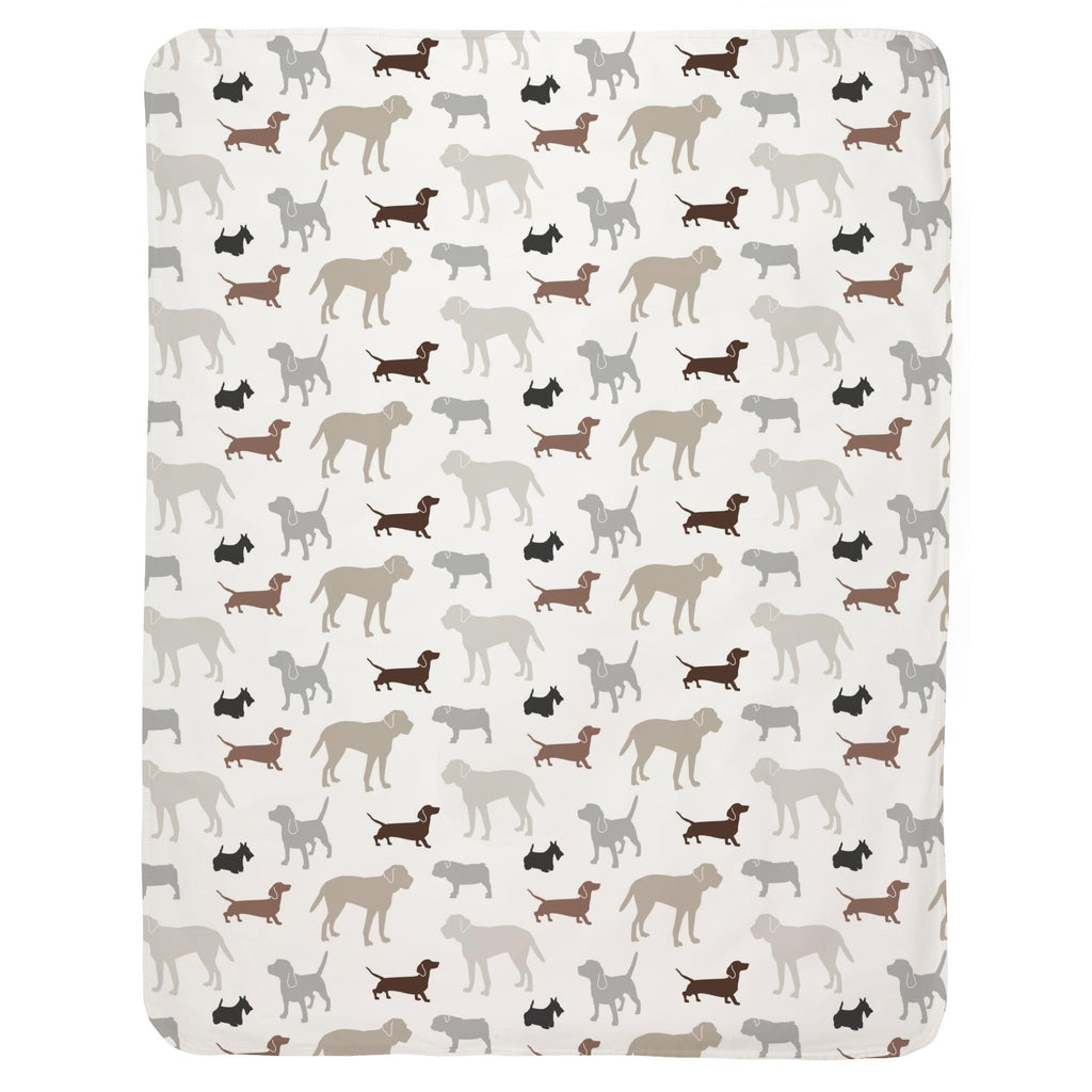 Product image for Brown and Gray Dogs Baby Blanket
