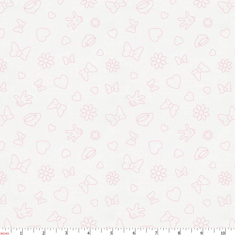 Product image for Disney© Bubblegum Minnie Icons Fabric