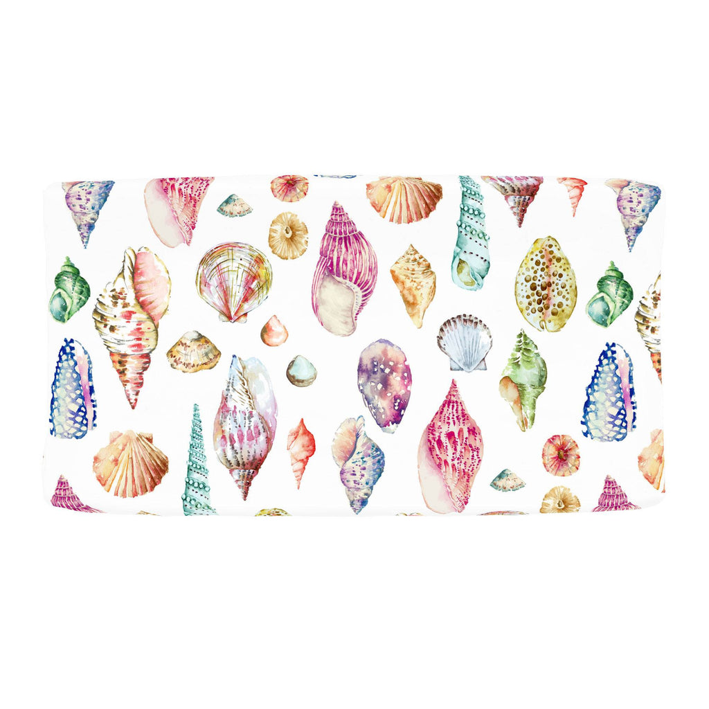 Product image for Watercolor Seashells Changing Pad Cover