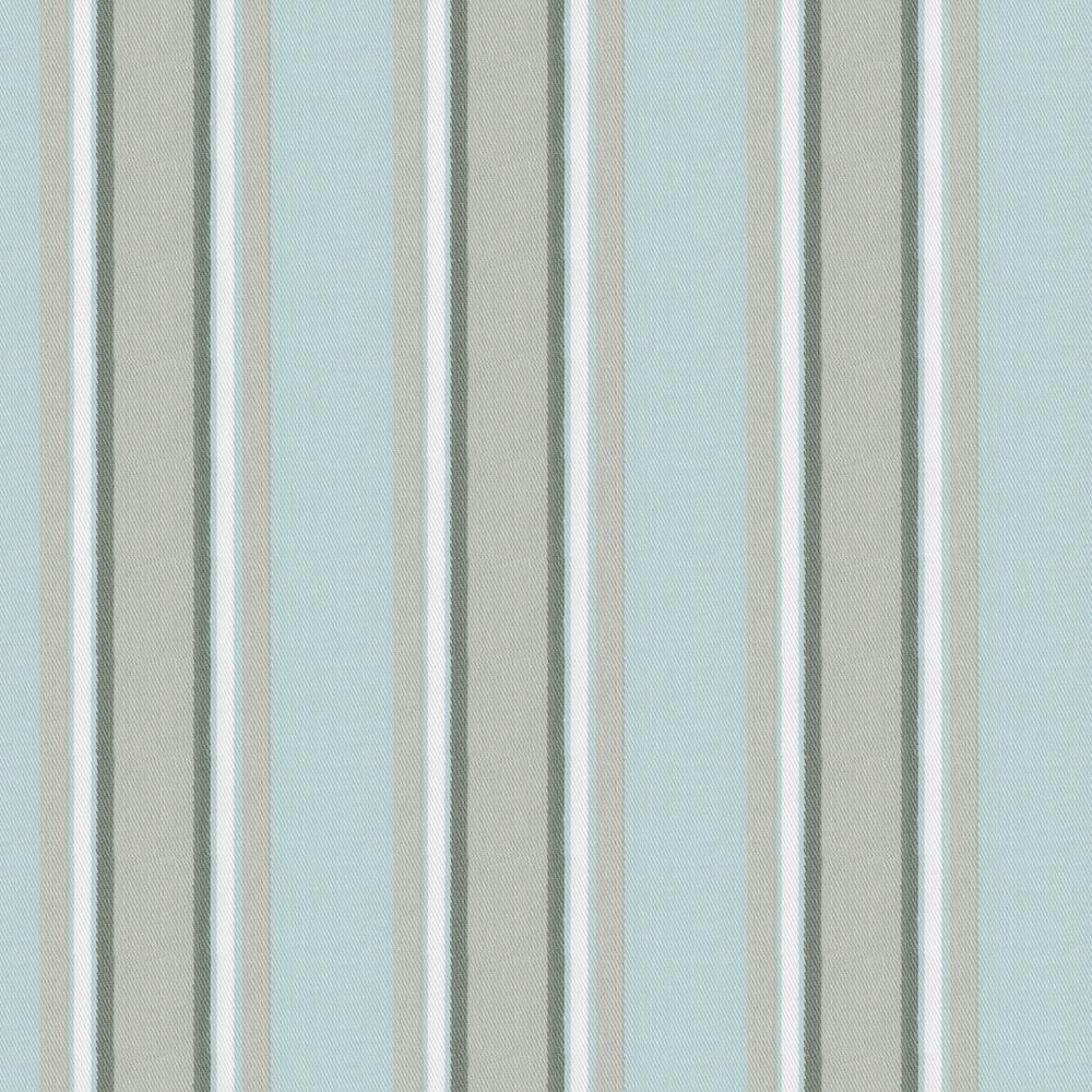 Product image for Mist and Gray Stripe Drape Panel