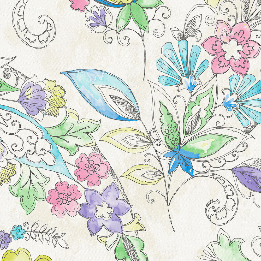 Product image for Sketchbook Floral Throw Pillow