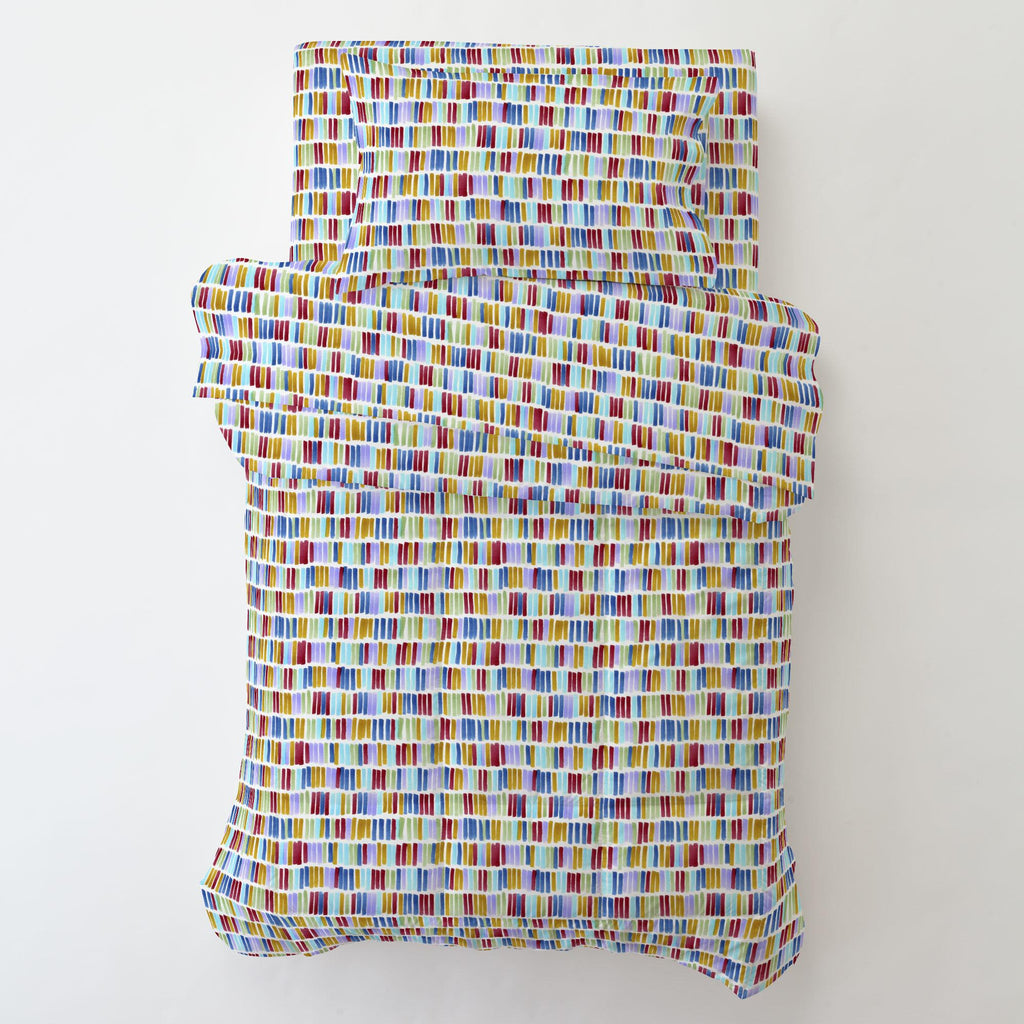 Product image for Colorful Bars Toddler Pillow Case with Pillow Insert