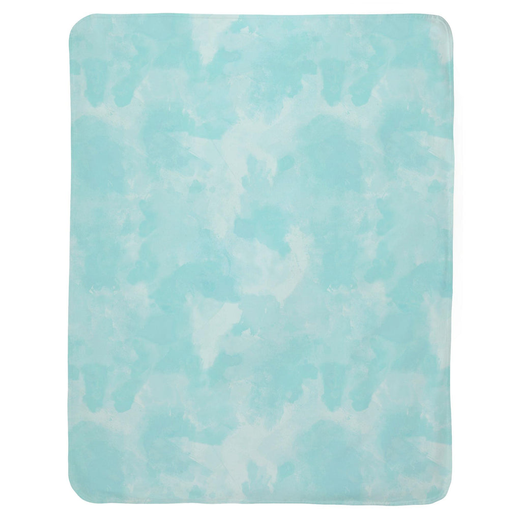 Product image for Seafoam Aqua Watercolor Baby Blanket