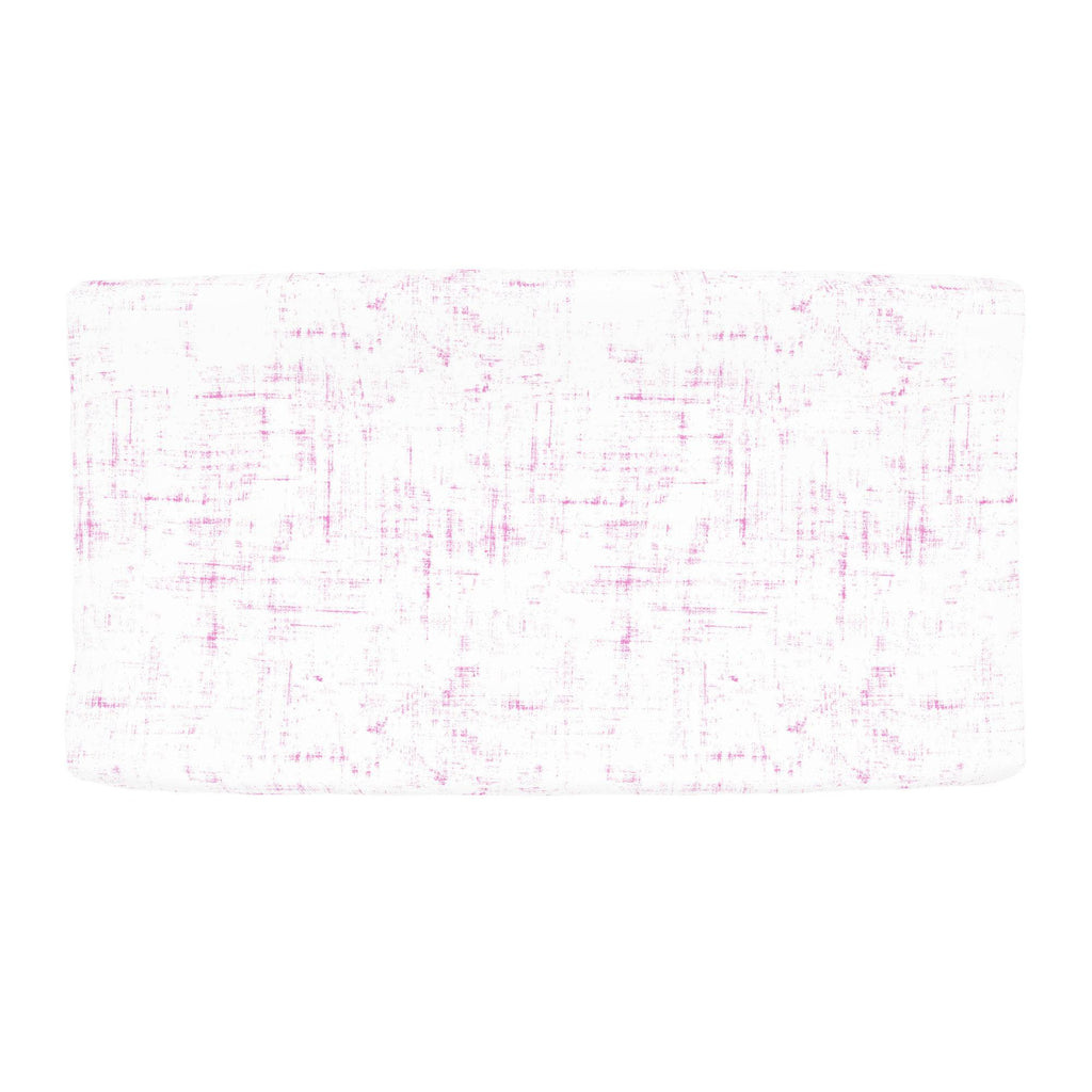 Product image for Hot Pink Distressed Changing Pad Cover