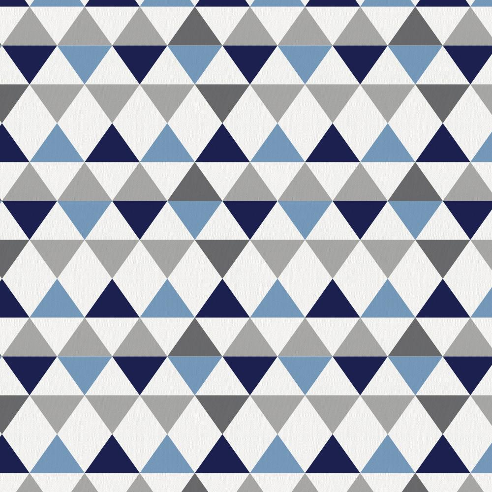 Product image for Gray and Blue Triangles Drape Panel