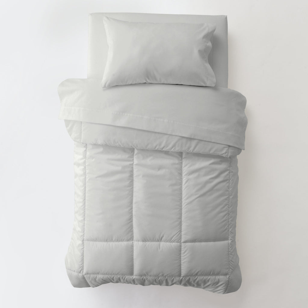 Product image for Solid Silver Gray Toddler Comforter