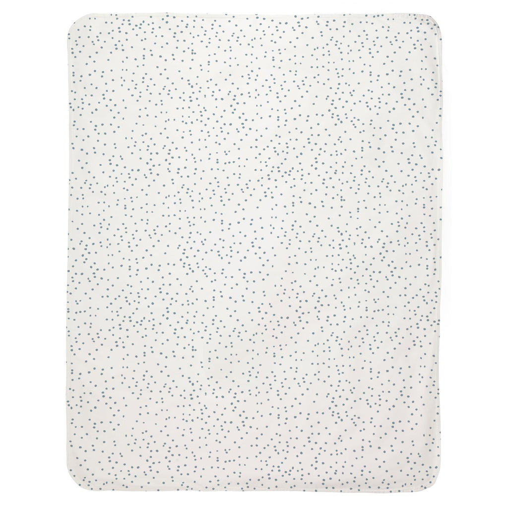Product image for Steel Blue Snowfall Baby Blanket