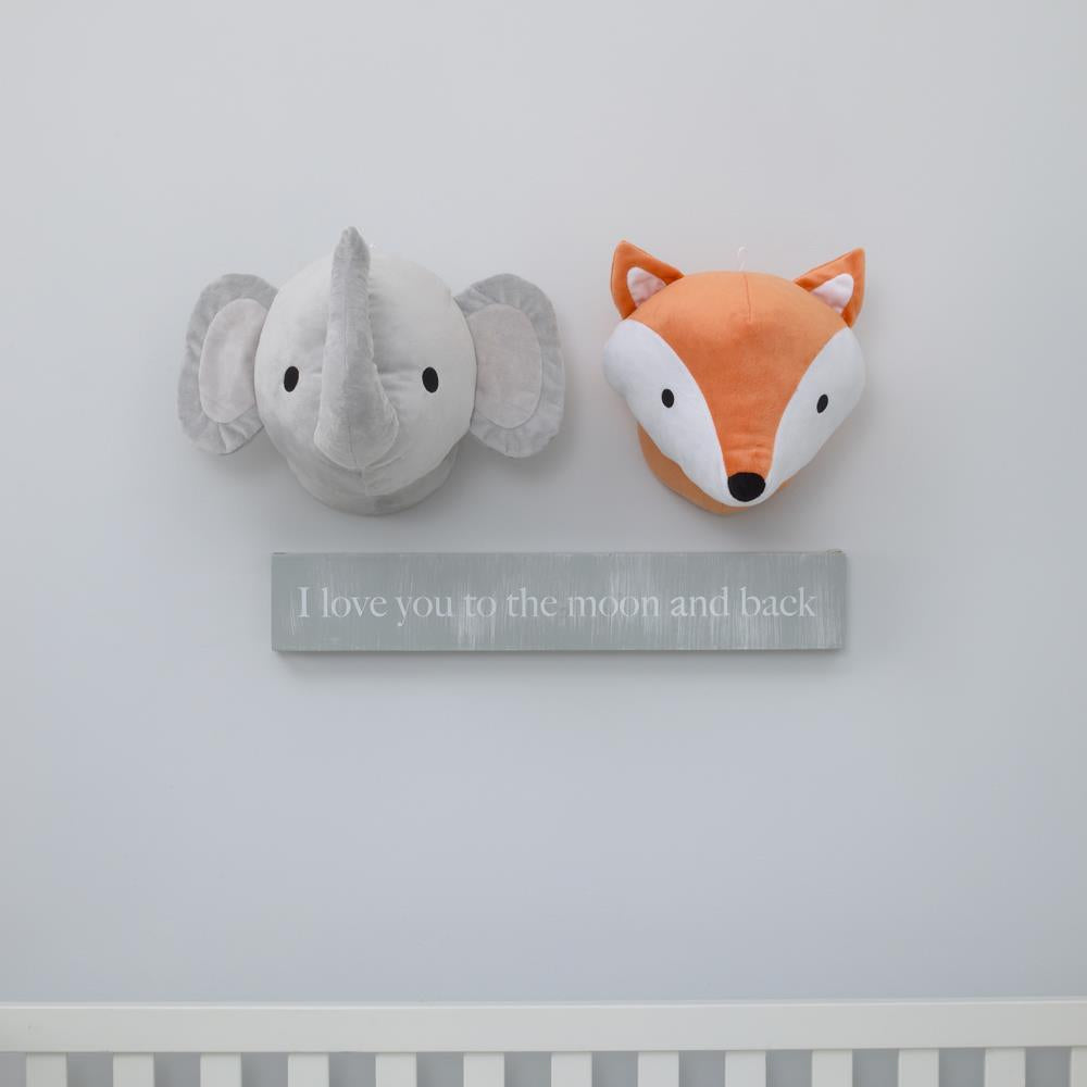 Product image for Grey Elephant Plush Decor