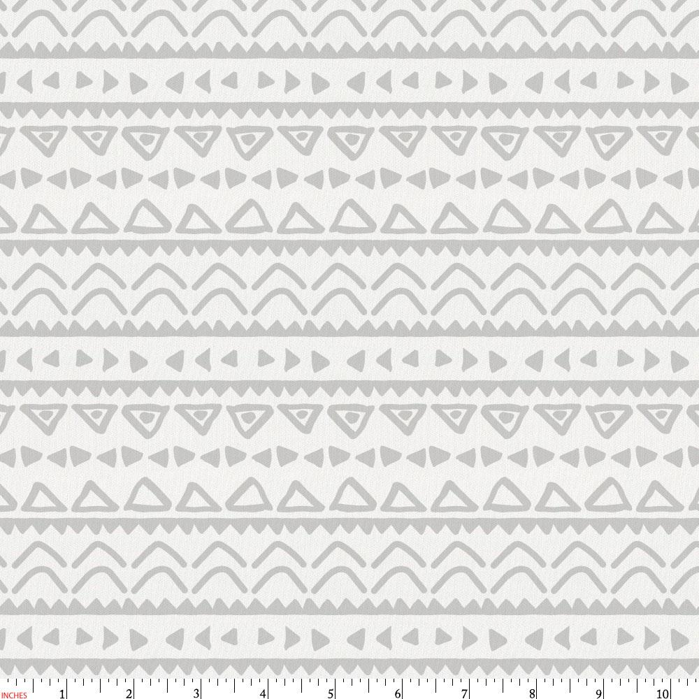 Product image for Silver Gray Baby Aztec Fabric
