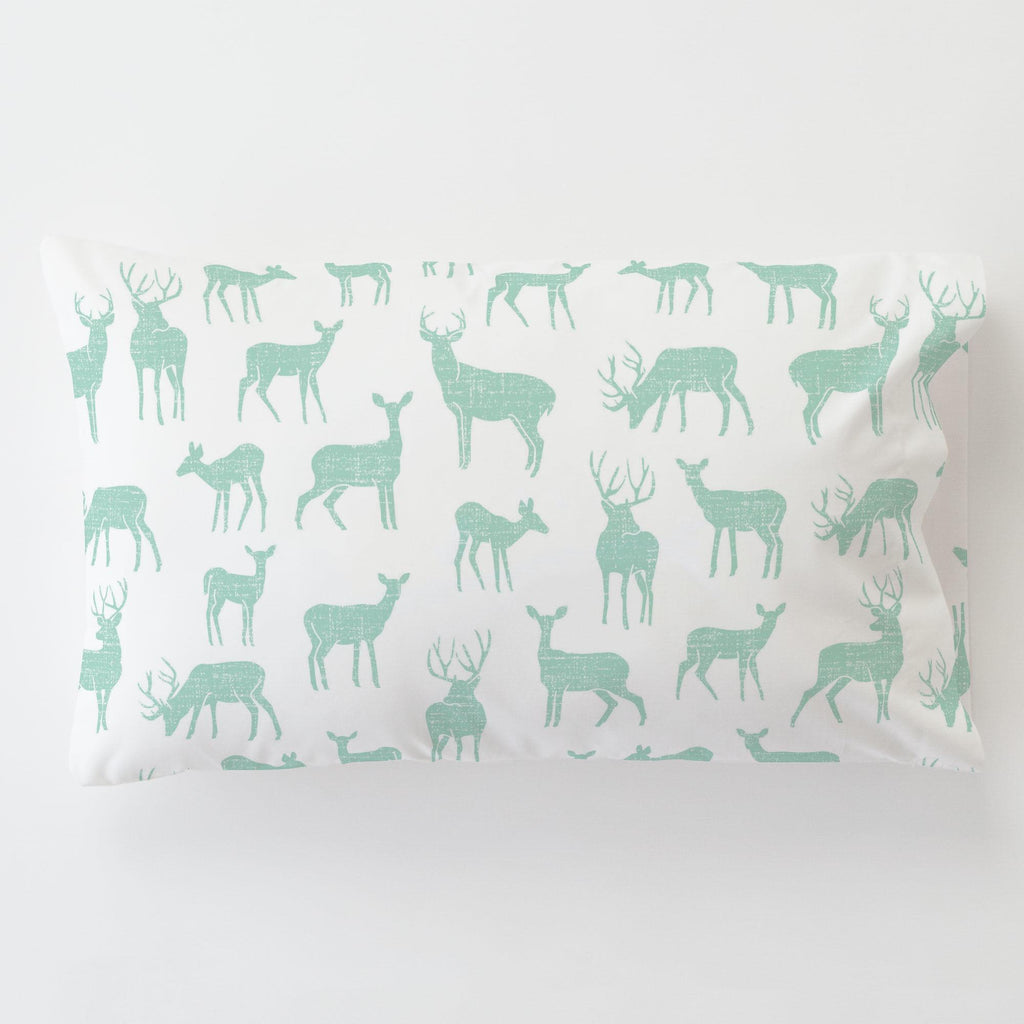 Product image for Mint Deer Toddler Pillow Case
