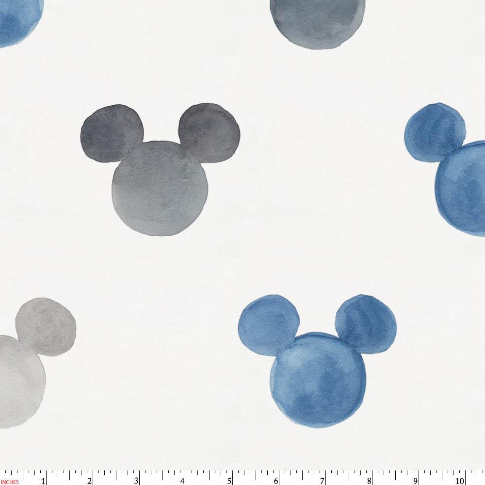 Product image for Disney© Blue Watercolor Mickey Ears Fabric
