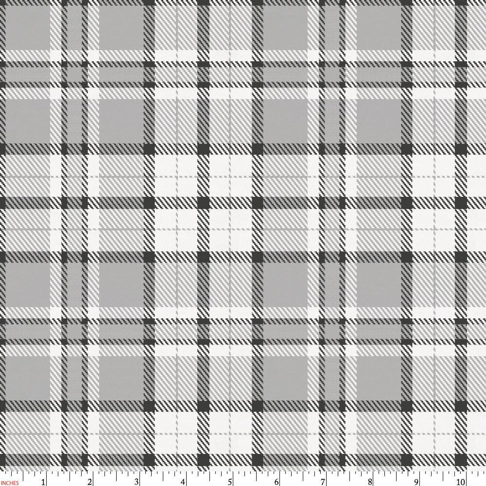 Product image for Gray Plaid Fabric