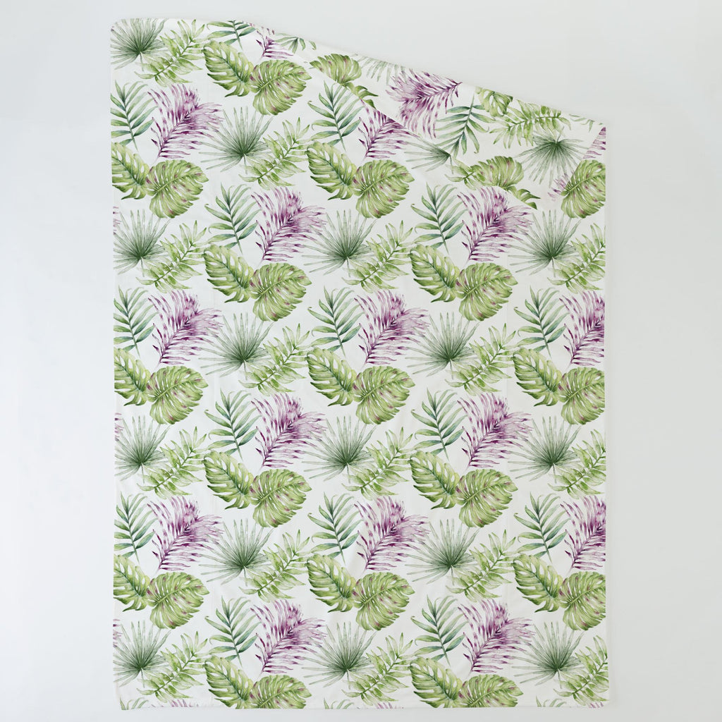Product image for Purple Painted Tropical Duvet Cover