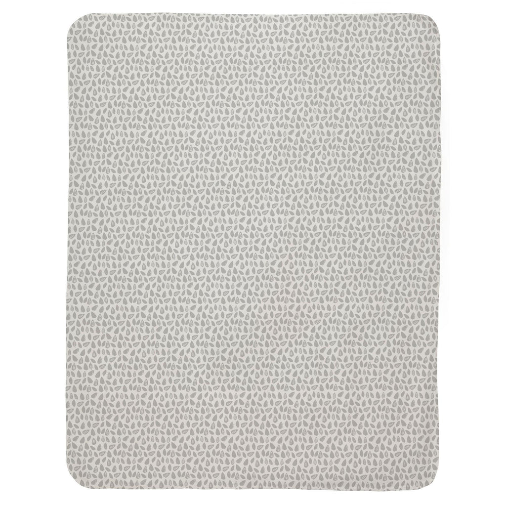 Product image for Gray Woodland Leaf Baby Blanket