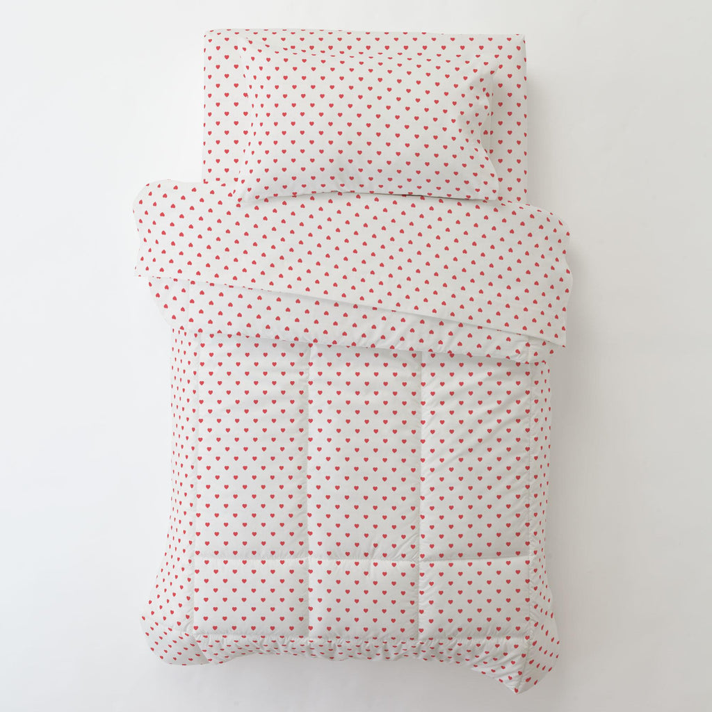 Product image for Coral Hearts Toddler Pillow Case with Pillow Insert