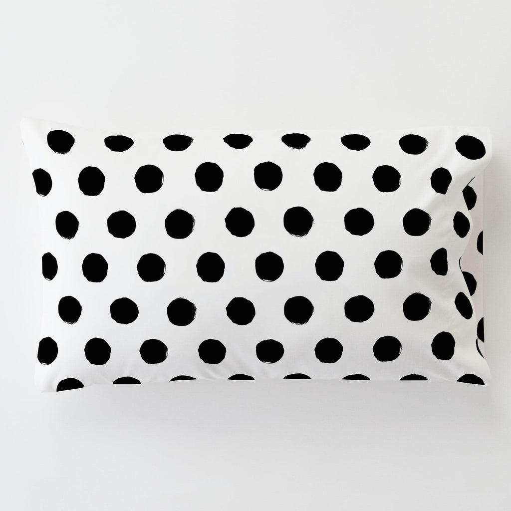 Product image for Onyx Brush Dots Toddler Pillow Case