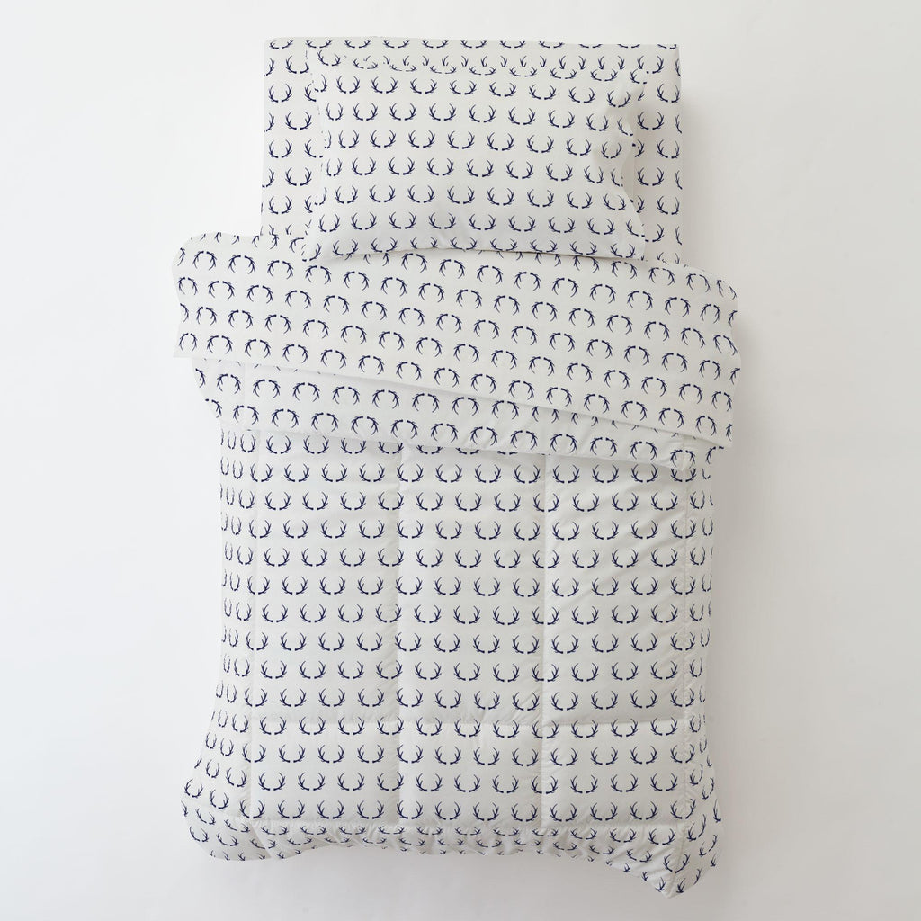 Product image for Windsor Navy Antlers Toddler Comforter