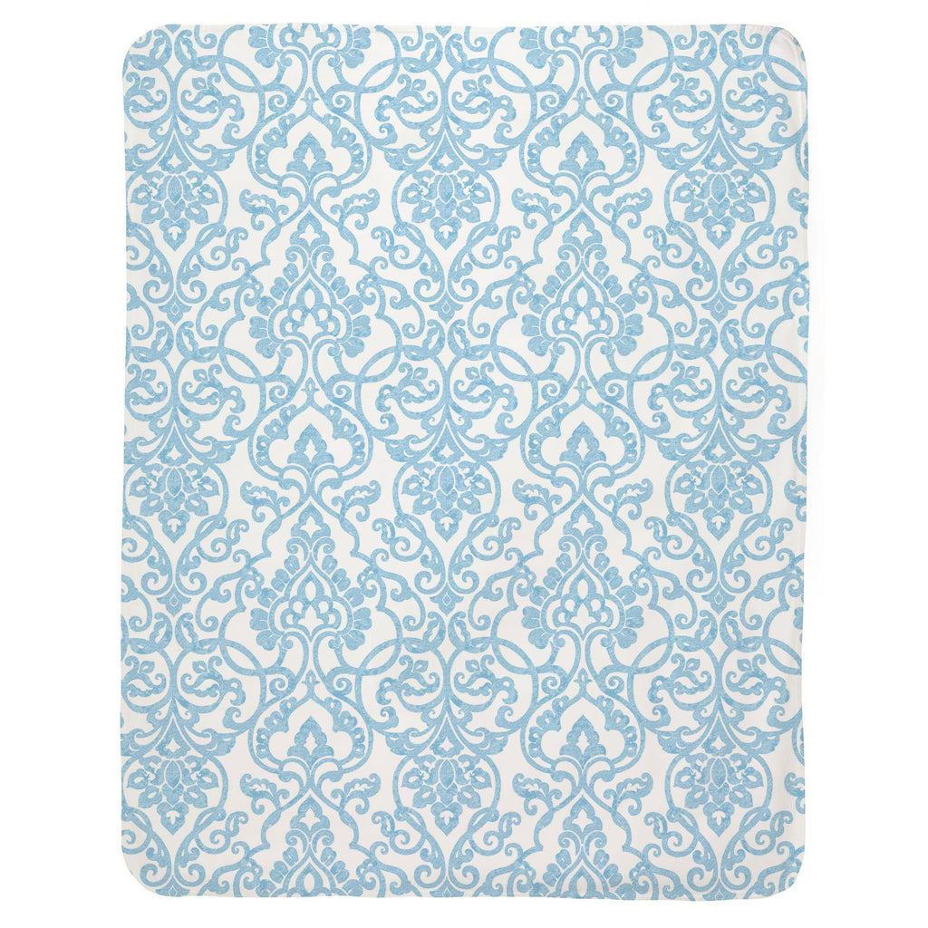 Product image for Blue Filigree Baby Blanket