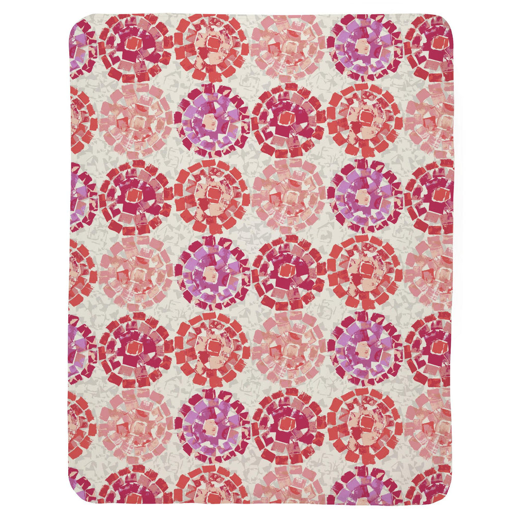 Product image for Coral Modern Mosaic Baby Blanket