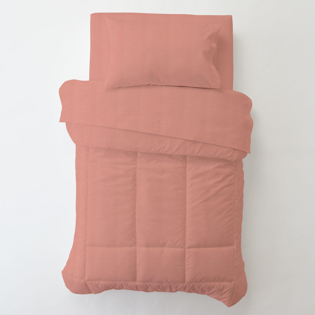 Product image for Solid Light Coral Toddler Pillow Case with Pillow Insert