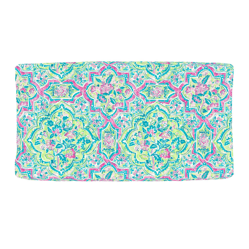 Product image for Pink Watercolor Medallion Changing Pad Cover