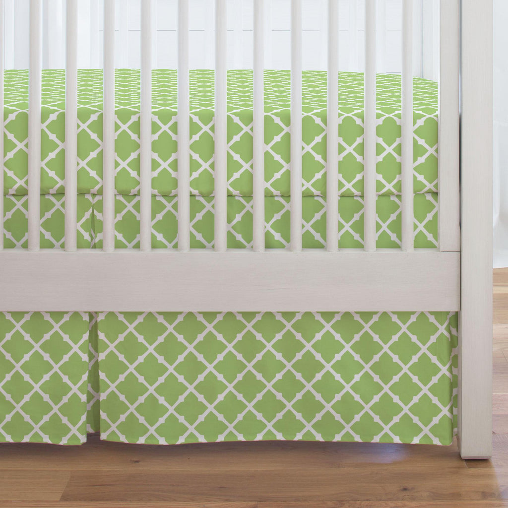 Product image for Kiwi Lattice Crib Skirt Single-Pleat