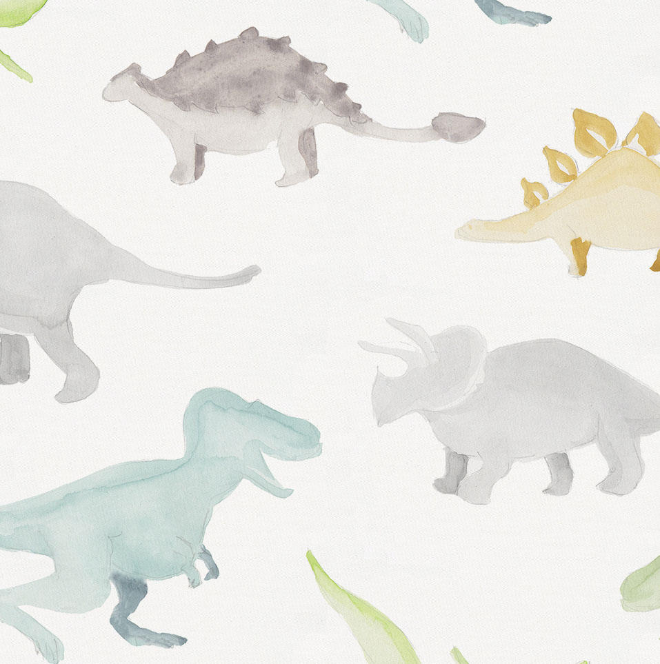 Product image for Watercolor Dinosaurs Pillow Sham