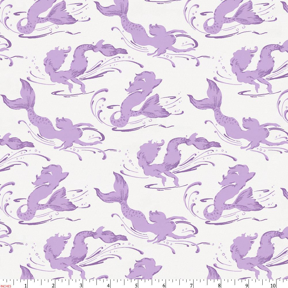 Product image for Purple Swimming Mermaids Fabric