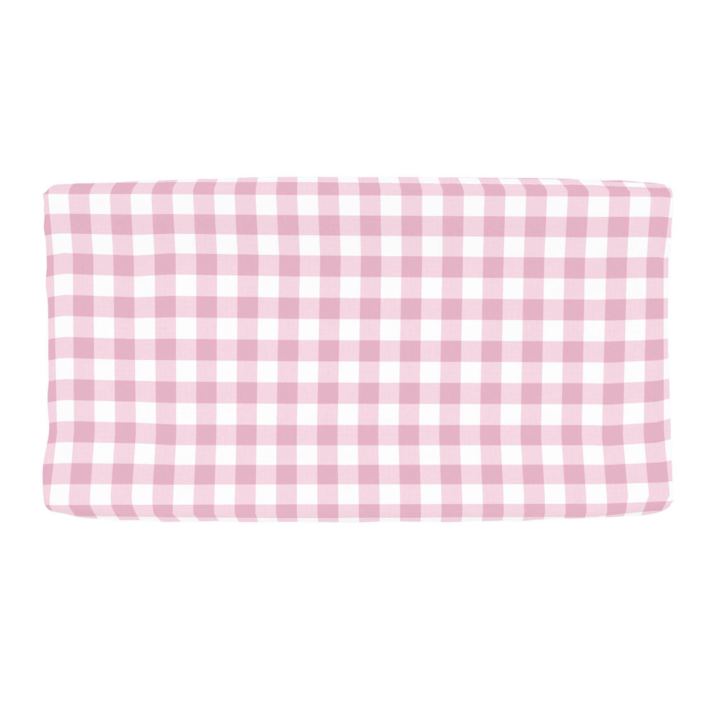 Product image for Bubblegum Gingham Changing Pad Cover